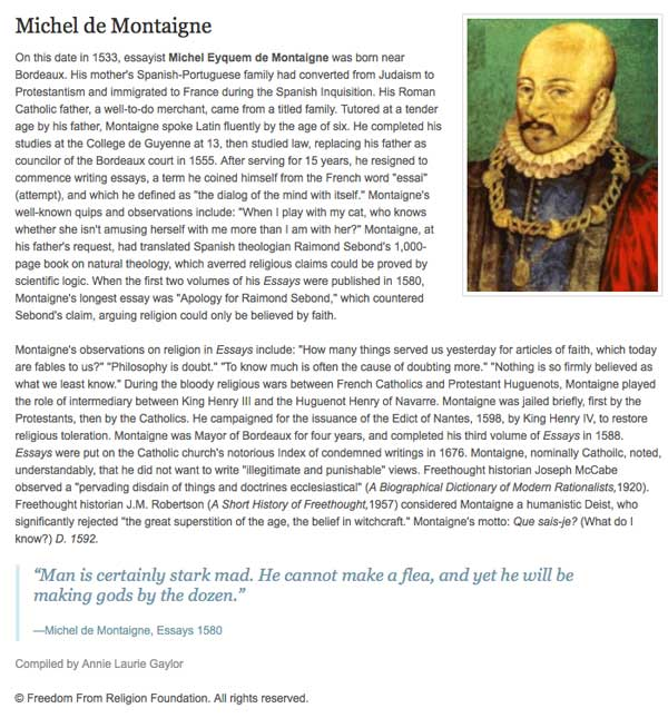 montaigne essays apology for raymond sebond